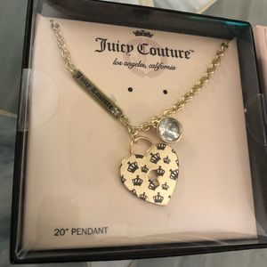 Juicy Couture Necklace New in Box Missing Earrings